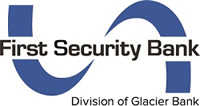 First Security Bank - Division of Glacier Bank blue ribbon logo